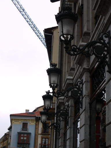Ornate street lamps on Calle de la Rúa - Spain (30)
