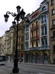 Interesting colourful façade on Calle del Marqués de Santa Cruz - Oviedo, Spain (9)