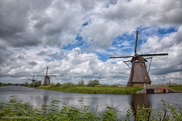 Windmills at Kinderdijk. The Netherlands. UNESCO World Heritage Site - by Peter Oshkai, Travel Photography Competition