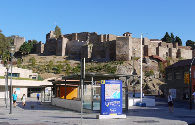 The walls of Malaga Castle, taken from Maria Guerrero square - Malaga, Spain (1)