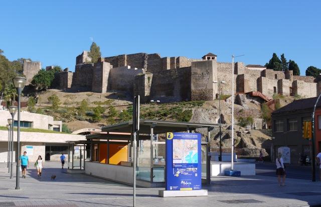 The walls of Malaga Castle, taken from Maria Guerrero square - Malaga, Spain (1)