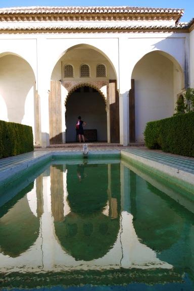 Reflective pool inside Malaga Castle - Malaga, Spain (19)