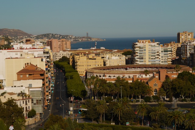 Malagueta Bullring, taken from Malaga Castle - Malaga, Spain (24)