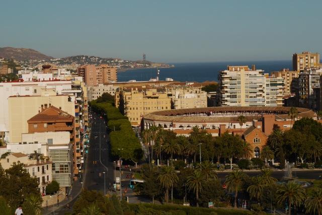 Malagueta Bullring, taken from Malaga Castle - Malaga, Spain (24)
