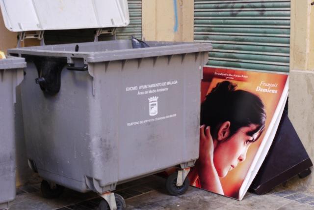 Rubbish bin and discarded photo - Malaga, Spain (3)