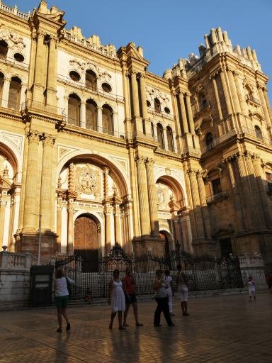 Main façade of Malaga Cathedral, taken from Obispo square - Málaga, Spain (39)