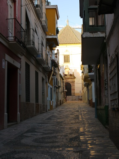 Deserted alleyway leading to the Church of Christ of the Health - Malaga, Spain (58)