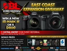 Win Canon 5D Mark III or Nikon D800!