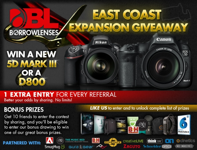Win Canon 5D Mark III or Nikon D800!