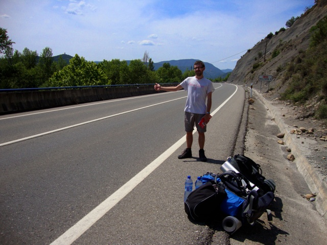 Hitch-hiking in Aragón, Spain