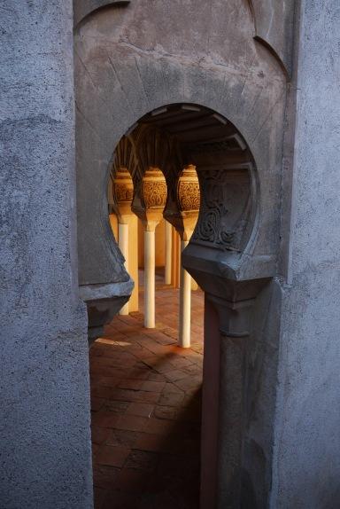 Málaga, Spain (26) - Archways and pillars inside Alcazaba de Málaga