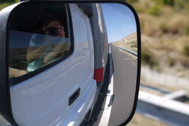 Photo taken from a truck/car window in Turkey, while hitch-hiking