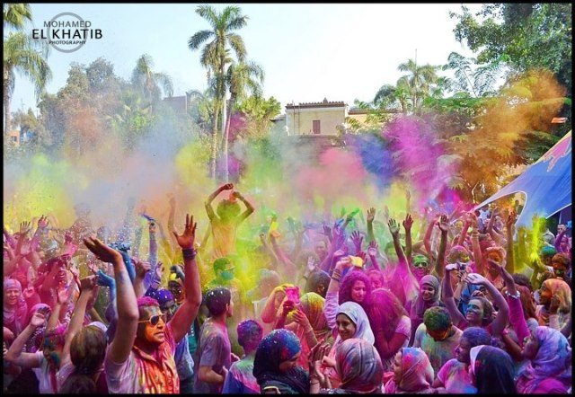 M El Khatib Photography - Festival of Colours in Giza, Egypt