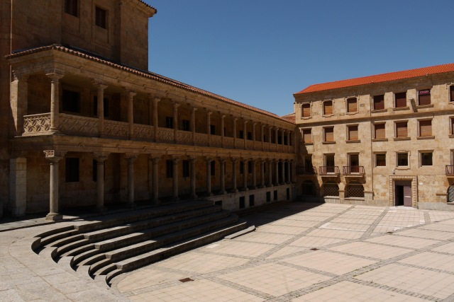 The façade of Servants College of St. Jose taken on  St Roman square - Salamanca, Spain (22)