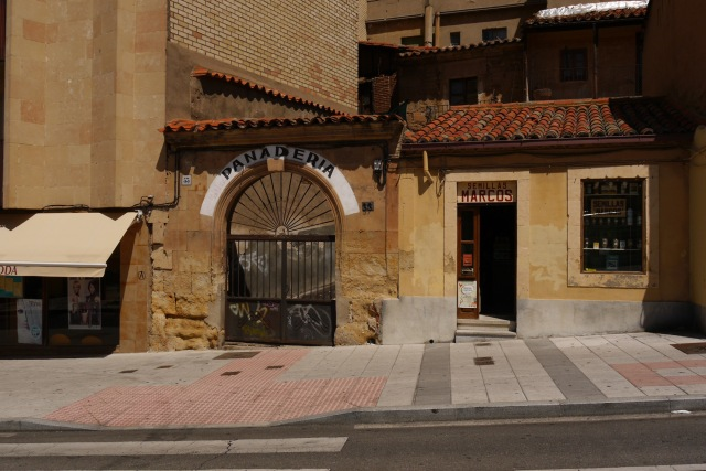 The closed gates of a Bakery, taken on Calle San Justo - Salamanca, Spain (23)