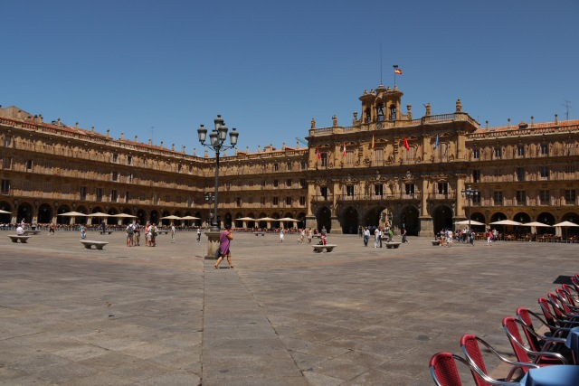 Salamanca Town Hall in glorious sunshine, taken on Main square - Salamanca, Spain (24)