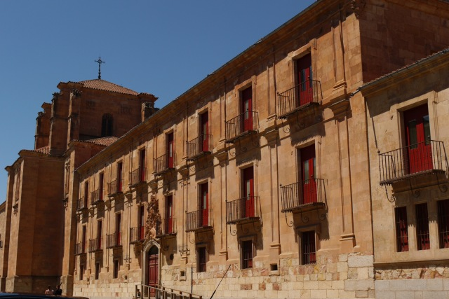 The façade of Pontif University of Salamanca, taken on Calle Fonseca - Salamanca, Spain (29)