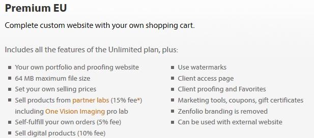 Zenfolio Premium EU