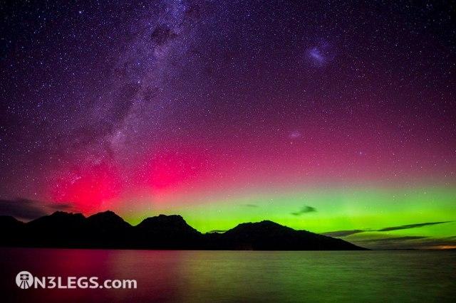 Ben Fewtrell - Photojourney - Aurora Australis over the Hazard Mountains, Tasmania, Australia