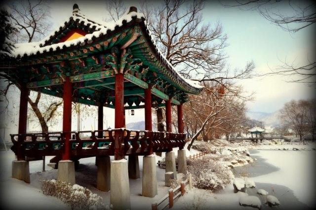 Frank Cademartori - Snowy Pagodain Cheonan, South Korea
