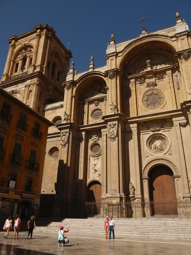 The main façade of Granada Cathedral, taken from Plaza de las Pasiegas - Granada, Spain (123)