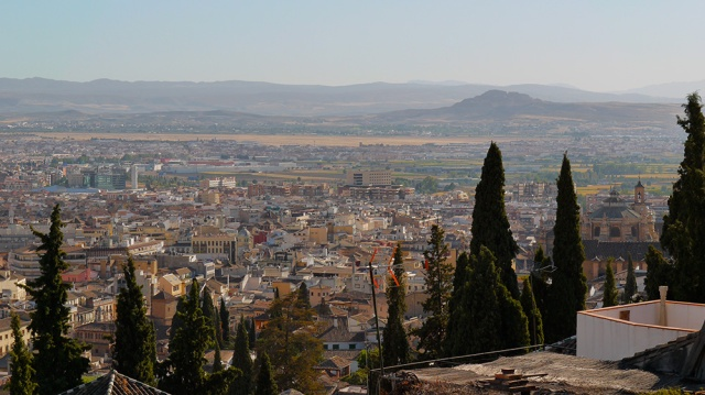 View over Realejo District, taken from St. Nicolas Viewpoint - Granada, Spain  (159)