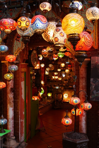 Granada, Spain  (173) - Bright and colourful lights of a light shop