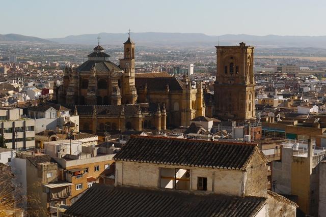 Granada, Spain  (171) - Close up of Catedral de Granada, as seen from Barrio El Albayzín