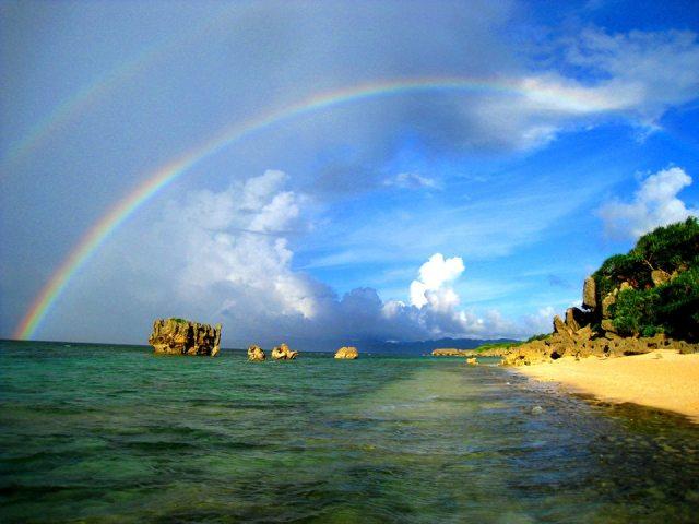 Dan Give-On - Double Rainbow on Kouri Island, Okinawa, Japan