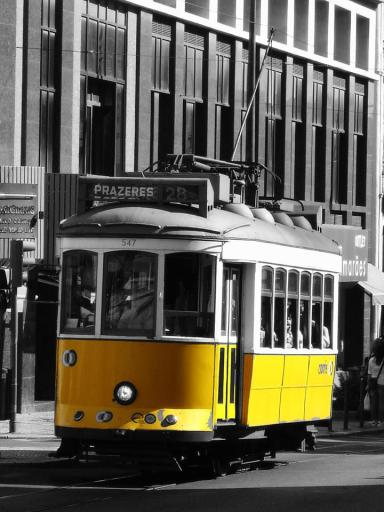 Rogério Paulo Pedrosa - Famous yellow tram in Lisbon, Portugal
