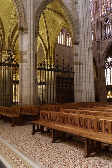 Santa María de León Cathedral, Leon, Spain - interior, pews