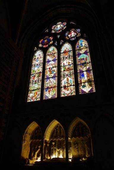 Santa María de León Cathedral, Leon, Spain - interior, stained glass windows (2)