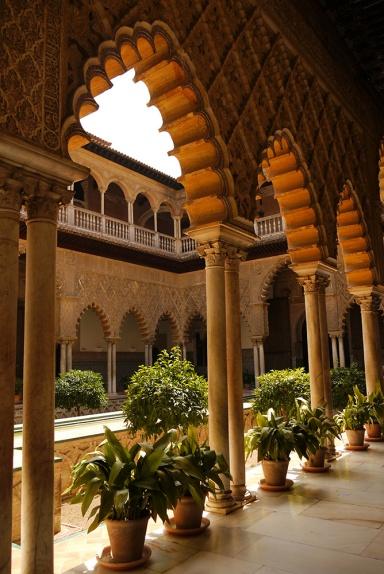 Sevilla, Spain (16) - Inside Reales Alcázares de Sevilla - Patio de las Doncellas