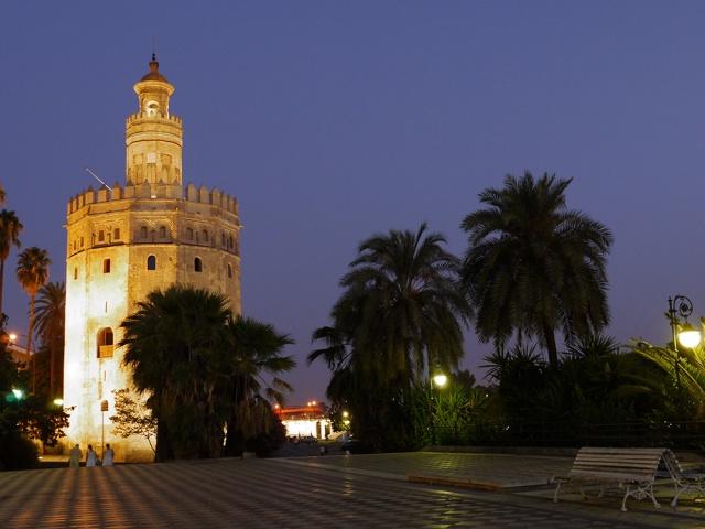 Sevilla, Spain (46) - Toree del Oro and riverside plaza