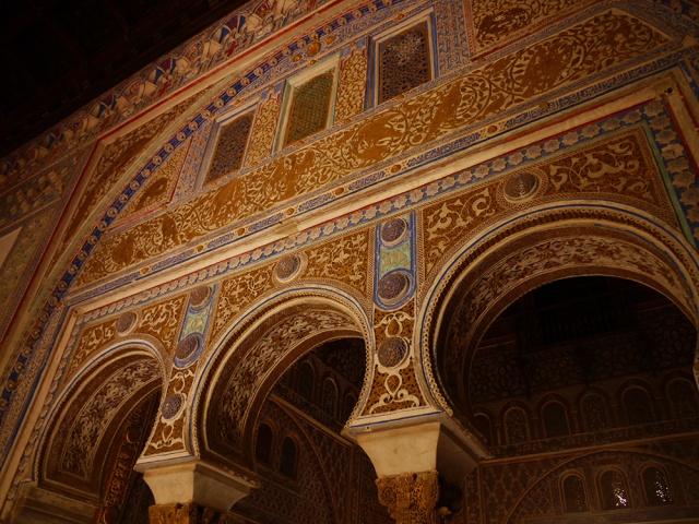 Sevilla, Spain (9) - Inside Reales Alcázares de Sevilla - Arcos de Herradura inside the Palacio Pedro I