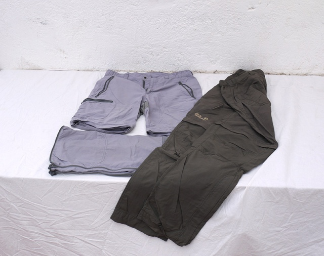 Zip-off trousers