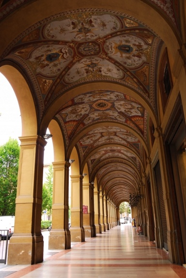 Archways of Bologna, Italy