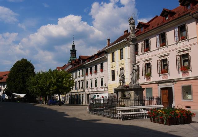 Central square, Skofja Loka, Slovenia