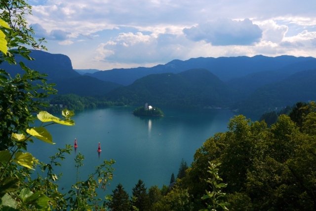 Lake Bled seen from the castle, Slovenia
