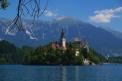 Church on the island in Bled, Slovenia