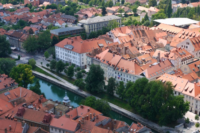 Ljubljana Old Town - view from the castle