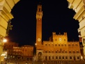 Central Square by night, Siena, Italy