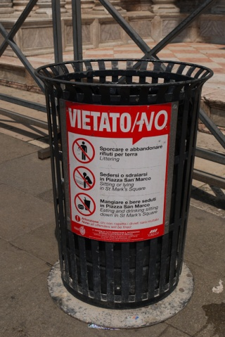 Prohibited in Venice, Italy