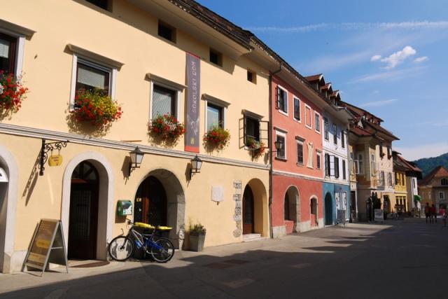 Skofja Loka main street, Slovenia