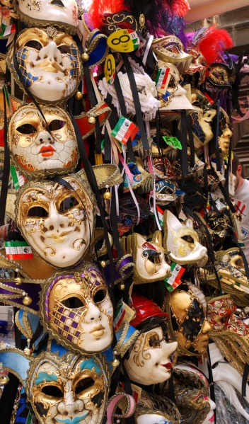 Venetian masks, Venice, Italy. souvenirs