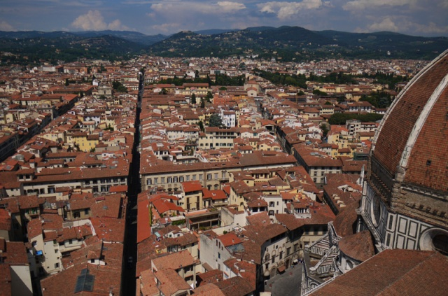 View over Florence, Italy from the cathedral's belltower - Campanile