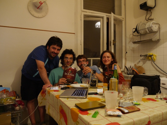 With Milad and Fabian - our hosts in trieste, Italy