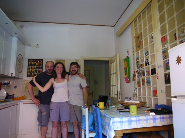 With Pietro, our host in Bologna, Italy