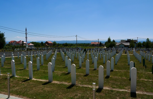Bosniak graveyard near Trnopolje, Bosnia and Herzegovina