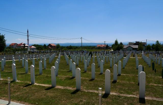 Bosniak graveyard near Trnopolje, Bosnia and Herzegovina
